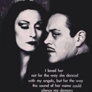... Ian would say about Candy ((aww...that sweet)) // Morticia and Gomez