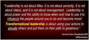 You Transformational? Leaders Influence BUT Transformational Leaders ...