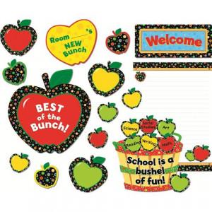 Poppin' Patterns ® Back-to-School Apples Mini Bulletin Boards