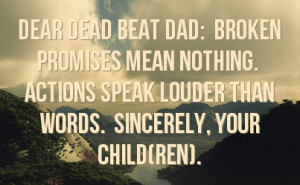 Dead Beat Dad Quotes for Facebook