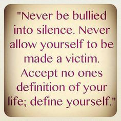 ... Accept no ones definition of your life; define yourself. #quotes More