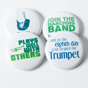 Trumpet Creation plus three Marching Band buttons or magnets - size ...
