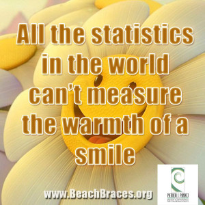 "Beach Braces Smile Quote #8 ""All the Statistics in The World Can't ..."