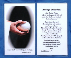 Laminated Softball Prayer Card (LSCSB)