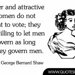 Clever and attractive women do not want to vote