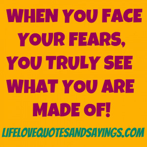 facing your fears quotes