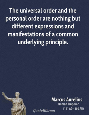 The universal order and the personal order are nothing but different ...