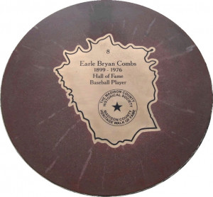 This plaque honoring Earle Combs hangs in the National Baseball Hall ...