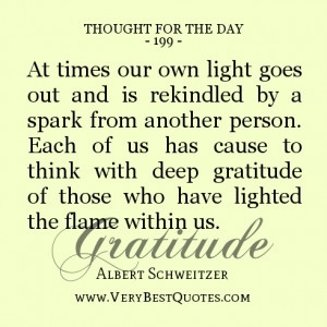 ... with deep gratitude of those who have lighted the flame within us