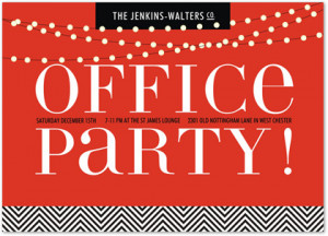 Twinkling Office Party Christmas Party Invitations
