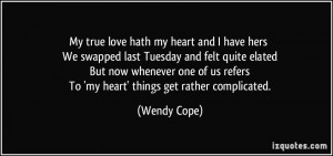 More Wendy Cope Quotes