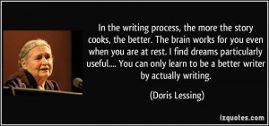 In the writing process, the more the story cooks, the better. The ...