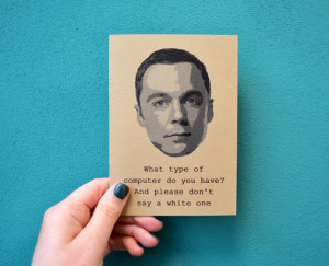 Sheldon Cooper quote notebook - big bang theory bazinga journal - Jim ...