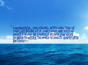 Tag Archives: 18 year old birthday quotes