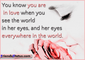Love quote for him you are in love