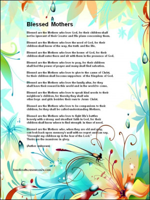 religious mothers day poems