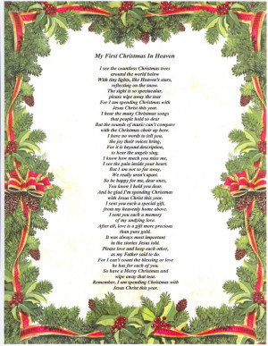 Sly image with regard to christmas in heaven poem printable