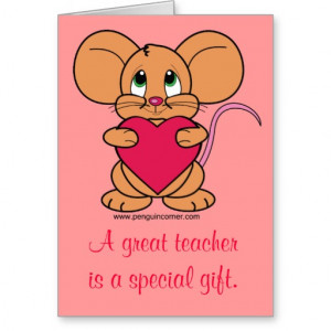 Thank you Valentine's Card Teacher