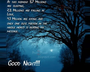 romantic good night sms moon pictures images good night quotes
