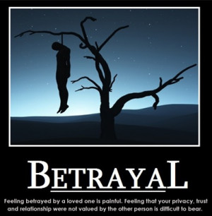 Feeling betrayed by a loved one is painful. Feeling that your trust ...