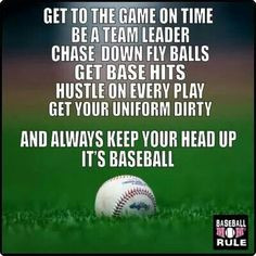 Baseball rules to live by! More