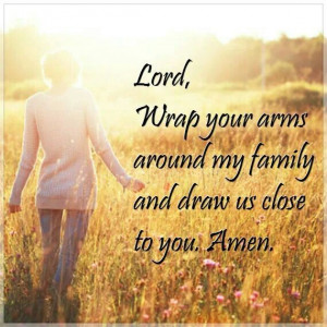 Daily prayer for my family