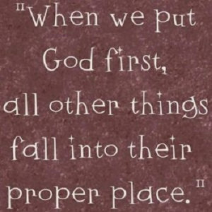 seek first the kingdom of # god