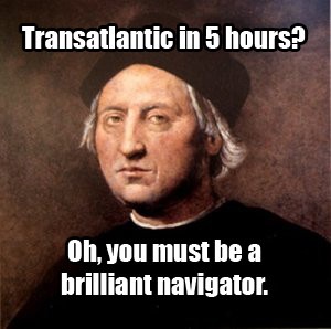 Actual Christopher Columbus quote after I brought him forward through ...