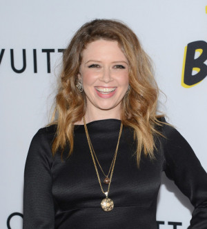 natasha lyonne brown blouse