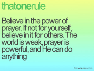 Prayer Quotes Power Need