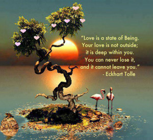 you can never lose your love eckhart tolle picture quote