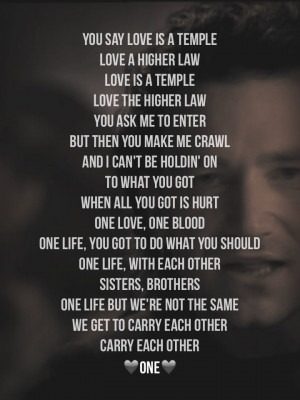 U2 lyrics with or without you meaning