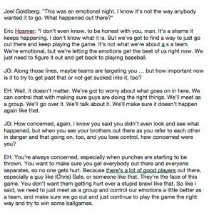 Here's the attached pic, which is a transcription of his interview ...