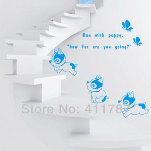 dog Pvc wall decal removeable quote Home Decor wall art decals wall ...