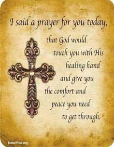 Prayer for Healing Quotes | Prayers for sick loved ones More