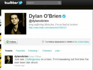 Tyler Posey & Dylan O'Brien Tweet