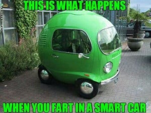 When you fart in a smart car...