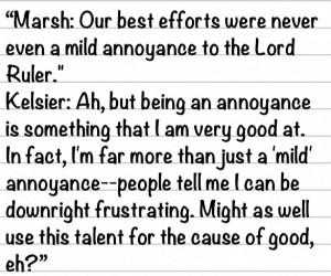 Kelsier and Marsh. In my mind, Marsh is the straight man and Kelsier's ...