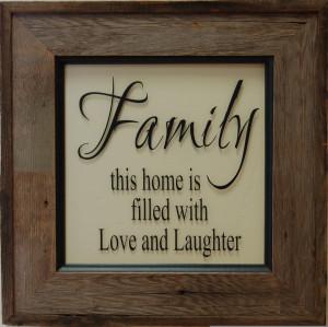 Family Sayings Framed