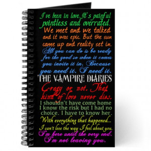 Vampire Diaries Quotes Journal