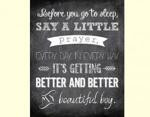 Before You Go to Sleep, Say a Little Prayer - Beautiful Boy Printable ...