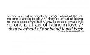 afraid of love quotes tumblr
