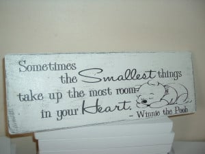 Winnie pooh wooden plaque quote 100 years/smallest room shabby chic ...