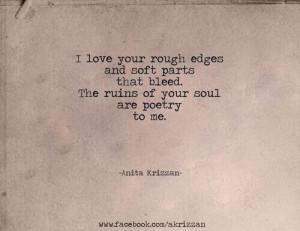 love your rough edges. @MasterDaRican