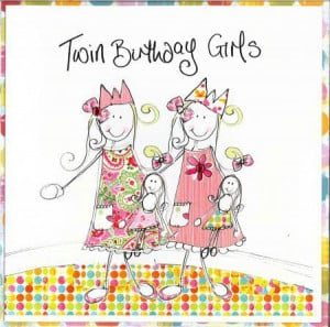 Twin Girls Birthday Card (TR)