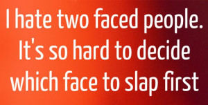 Two faced people knowledge