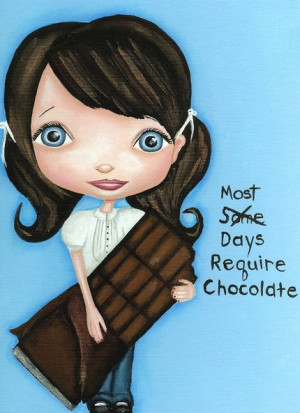 sort of a chocolate addict...and I love this print. I love how the ...