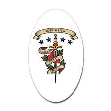 Love Welding Oval Sticker for