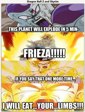 Dragon Ball Z/Skyrim Meme by ImmyG93