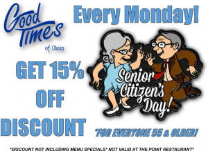 Senior Citizen Discount Off